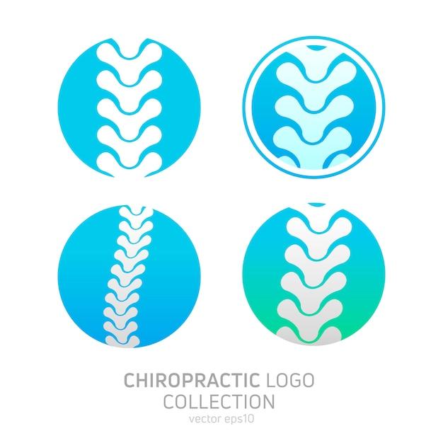 Установите логотип мануальной терапии Бесплатные векторы