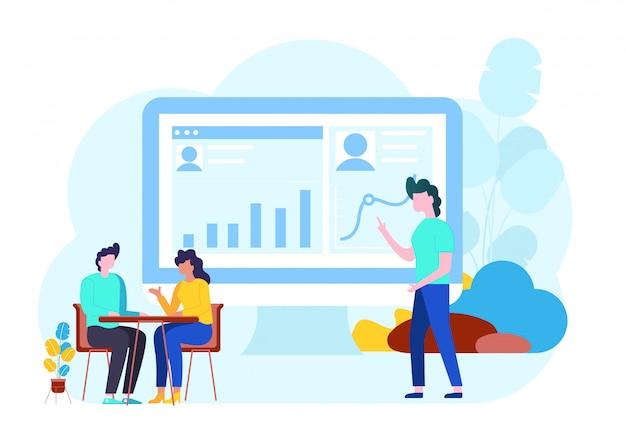 ビジネスチーム作業コンセプト Premiumベクター