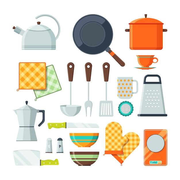 調理用のキッチンツール。 Premiumベクター