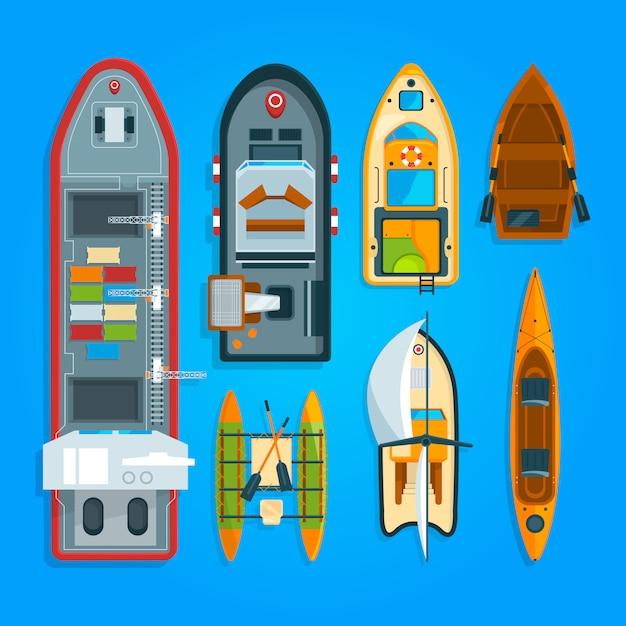 ボートと船船の違い Premiumベクター