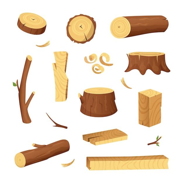 木材産業のための材料 Premiumベクター
