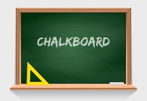 緑の質感を持つ木造学校の黒板 Premiumベクター