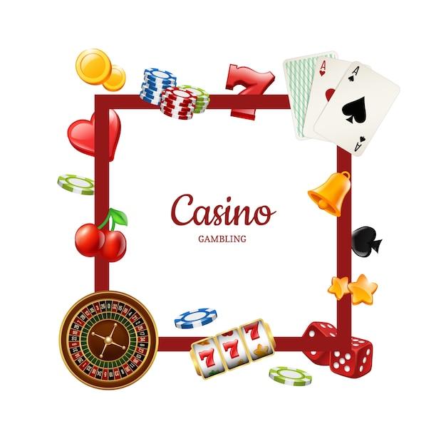 Шаблон рамки элементов казино Premium векторы