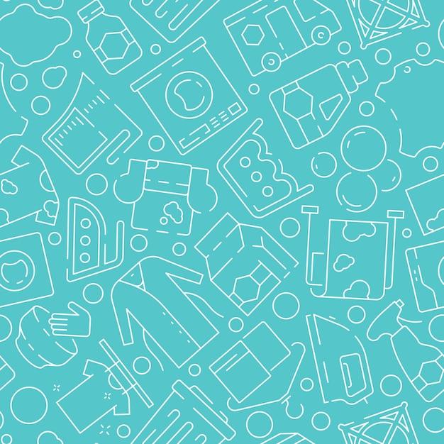 Шаблон службы стирки. химчистка одежды стиральная одежда чистка пятен Premium векторы