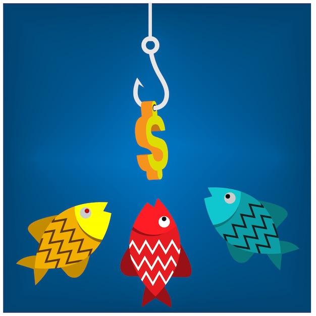金の魚 Premiumベクター