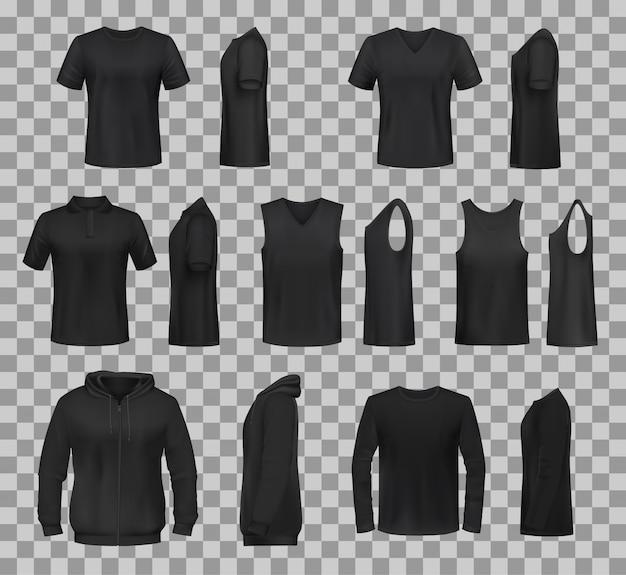 女性のシャツ服黒テンプレートモデル Premiumベクター