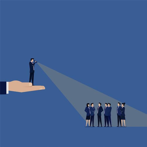 新入社員を探しているビジネスリーダー。 Premiumベクター