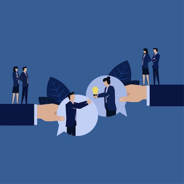 Обслуживание бизнес-клиентов дает идею для решения проблем с пузырьковой чат. Premium векторы