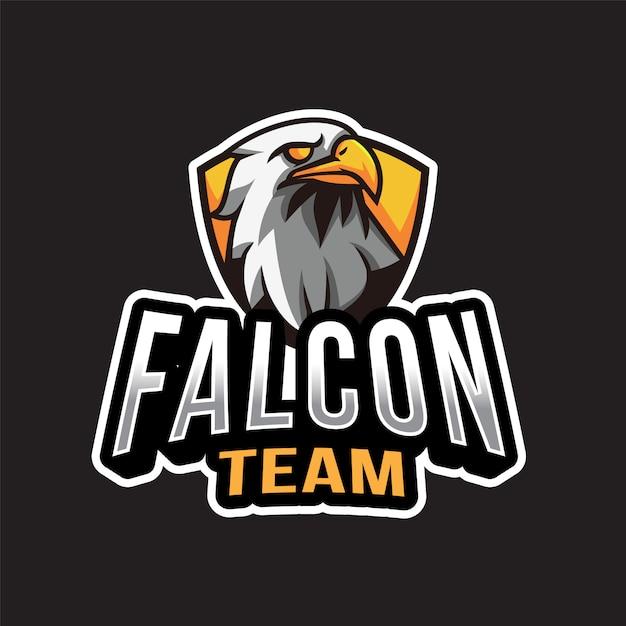 ファルコンチームのロゴのテンプレート Premiumベクター