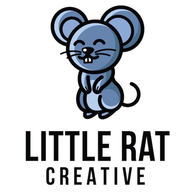 リトルラットクリエイティブなロゴのテンプレート Premiumベクター