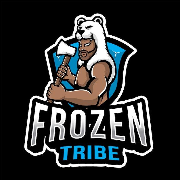 冷凍部族エスポートのロゴのテンプレート Premiumベクター