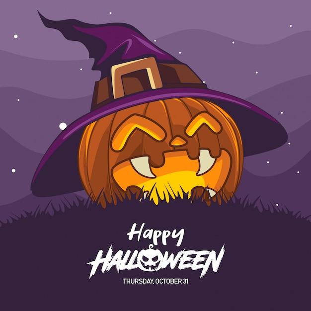 Иллюстрация костюма ведьмы хэллоуина Premium векторы