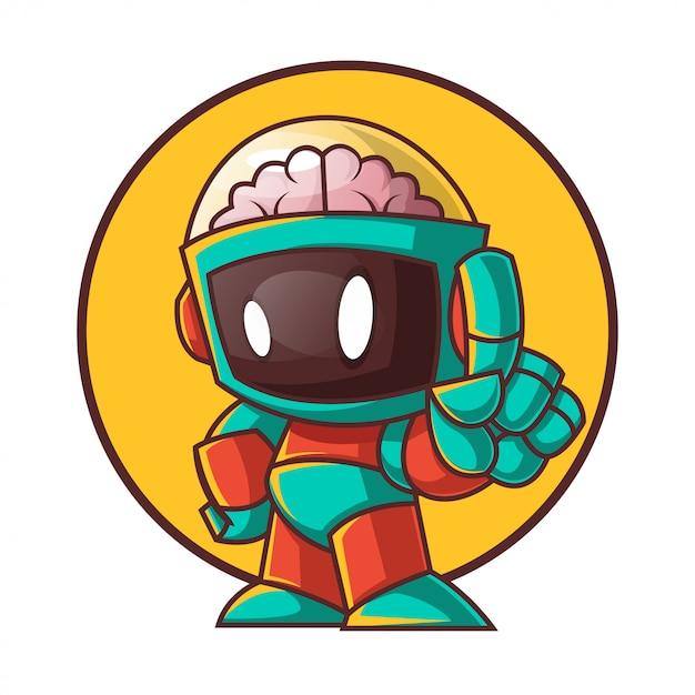 ユニークなロボット漫画のキャラクター Premiumベクター