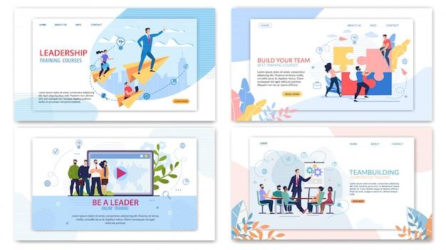 Набор шаблонов сайта для корпоративного обучения Premium векторы