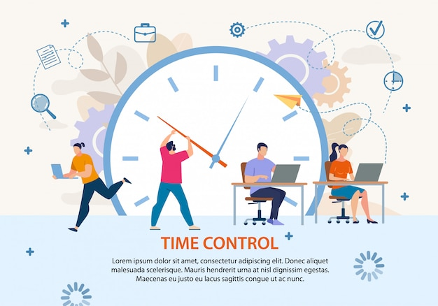 時間管理プロジェクト管理ビジネスポスター Premiumベクター