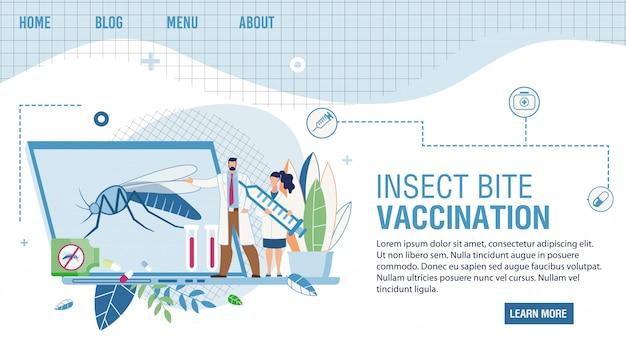 Онлайн-сервис, предлагающий прививку от укусов насекомых Premium векторы