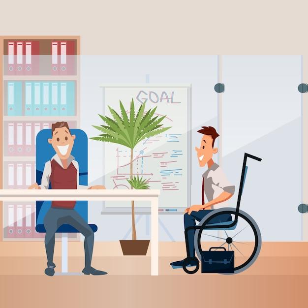 障害者雇用フラットベクトル概念 Premiumベクター