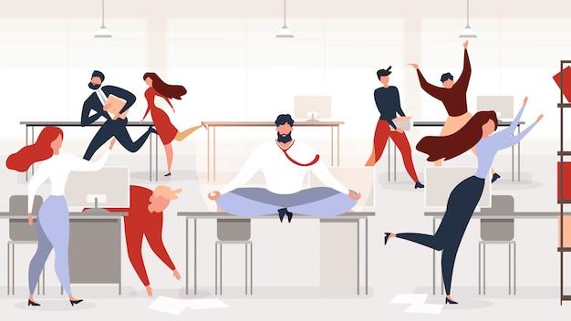 オフィス職場のベクトル概念でストレス解消 Premiumベクター