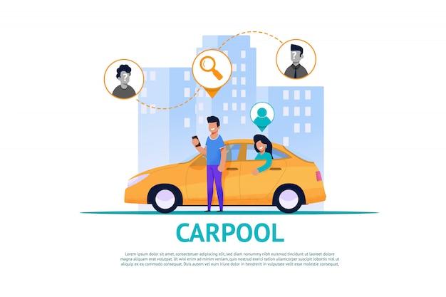 Автобаза и маршрутно-транспортное сотрудничество Premium векторы
