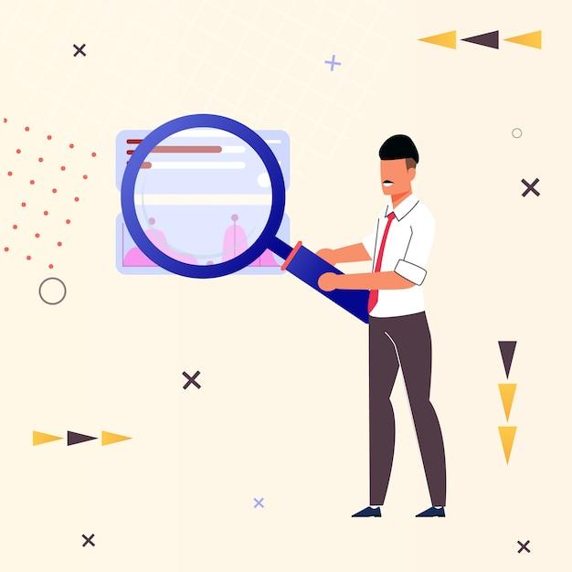 インターネットフラットに関する情報のチラシ検索。 Premiumベクター