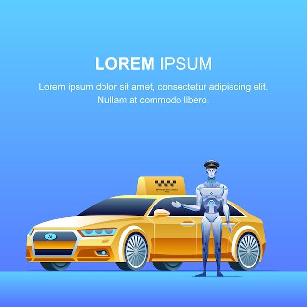 スマートタクシーバナー Premiumベクター