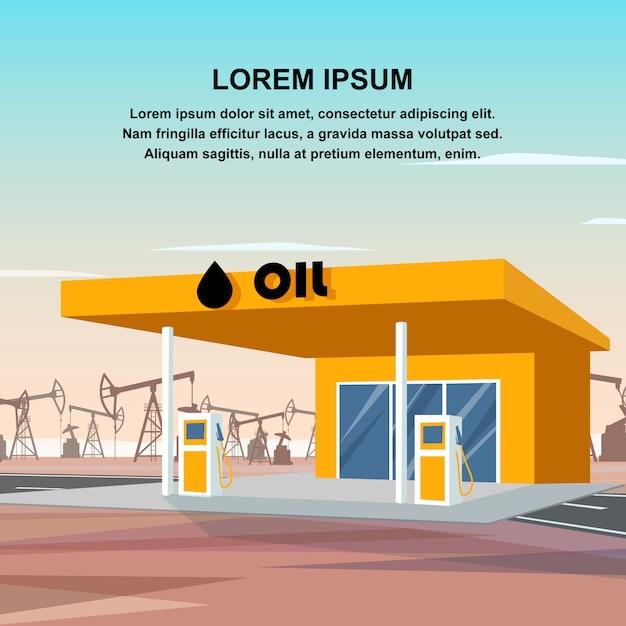高品質石油製品を搭載した燃料補給車 Premiumベクター