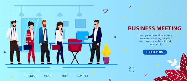 ビジネスディスカッションのためのオフィスで上司ミートスタッフ。 Premiumベクター