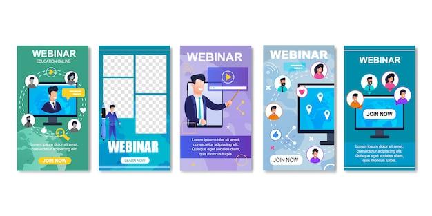 Интернет образование, интернет вебинар для студентов. Premium векторы
