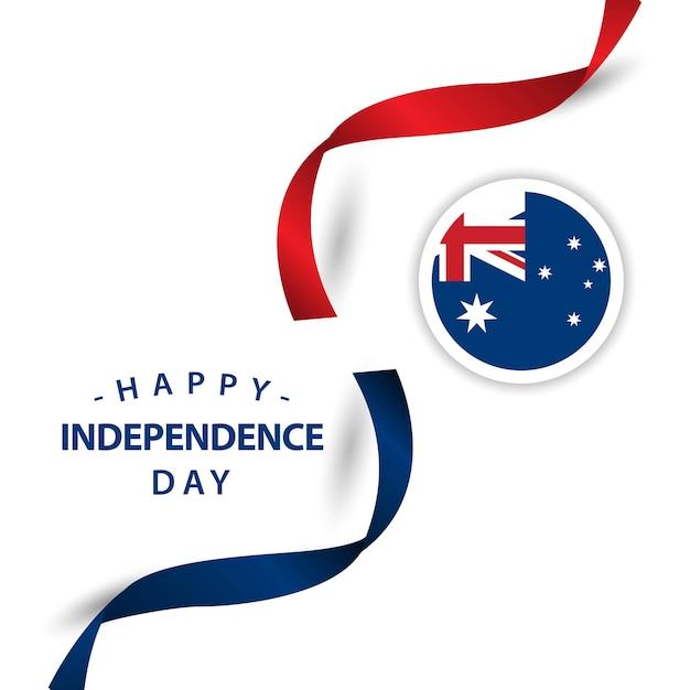 ハッピーオーストラリアの独立した日のベクトルデザインイラスト Premiumベクター
