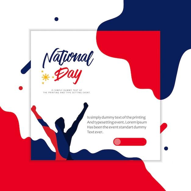 フィリピン国民の日イラストレーション Premiumベクター