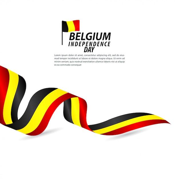 ベルギー独立記念日のお祝いベクトルテンプレートデザインイラスト Premiumベクター