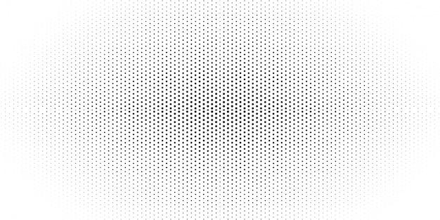 黒と白のハーフトーンパターンの背景 Premiumベクター