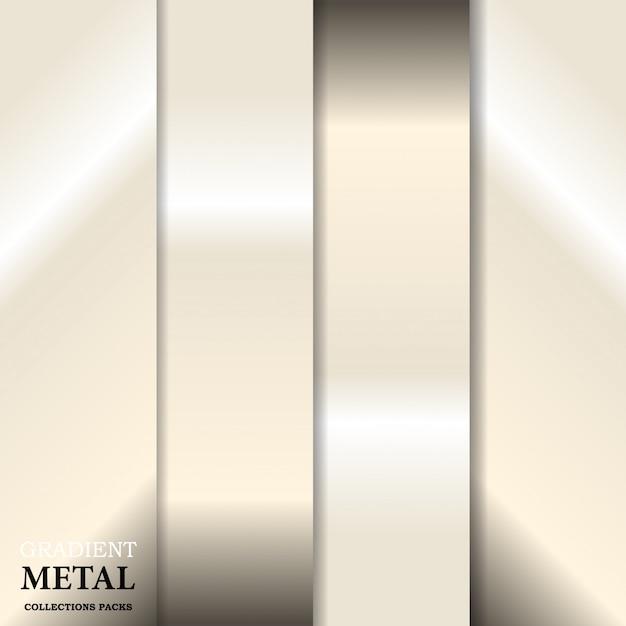 Градиент золотой металлический фон Premium векторы