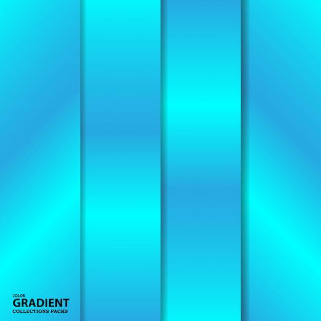 グラデーションカラーコレクションパックテンプレート Premiumベクター