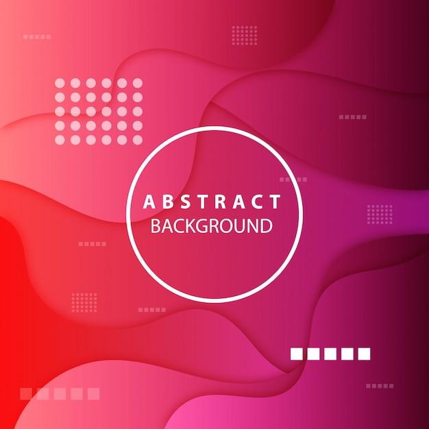 抽象的な形のモダンなピンクの背景 Premiumベクター