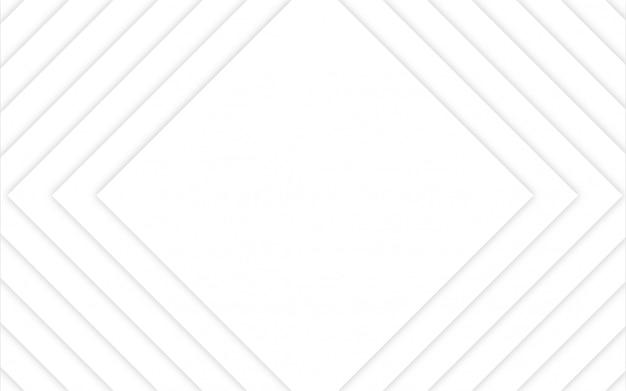 Абстрактный геометрический фон белый свет Premium векторы