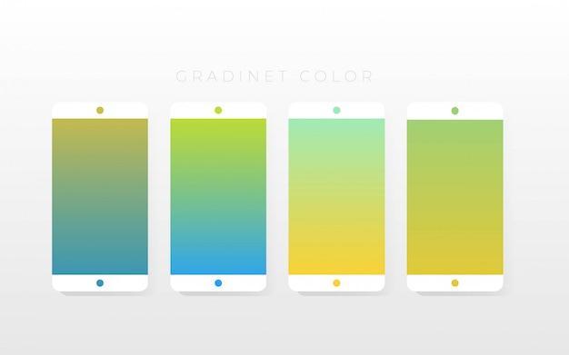 グラデーションカラーコレクションパック Premiumベクター
