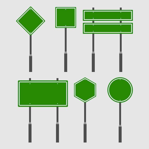 グリーン交通ロードボードセット Premiumベクター