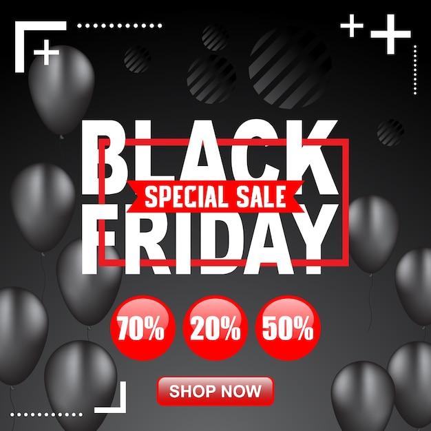 黒い金曜日のポスターとバナーのイラスト Premiumベクター