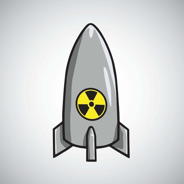 Вектор атомной ядерной ракетной бомбы Premium векторы