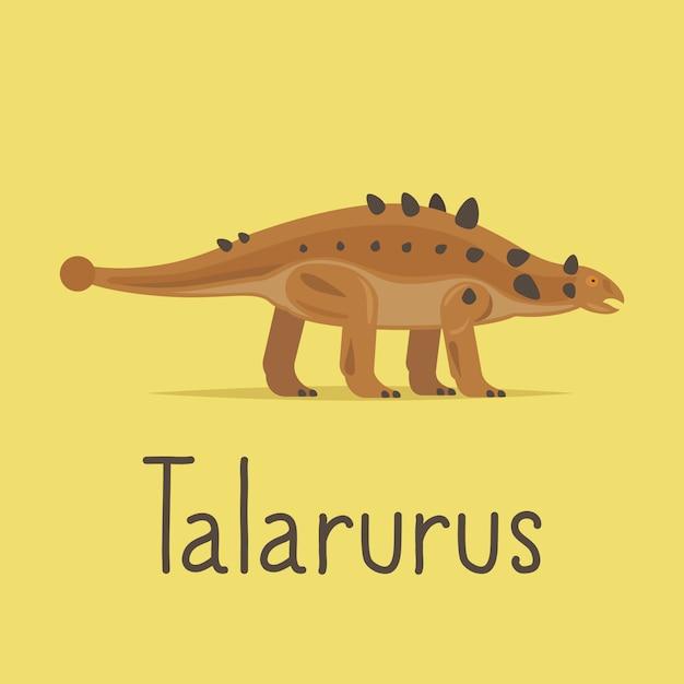 Красочная карта динозавров таларура Premium векторы