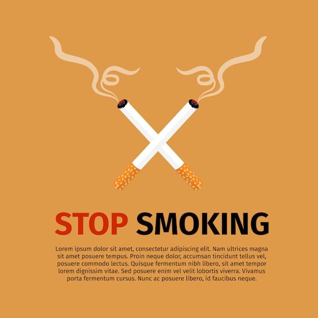 Брось курить, всемирный день без табака Premium векторы