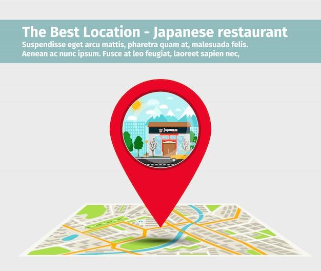 Лучший ресторан японской кухни Premium векторы