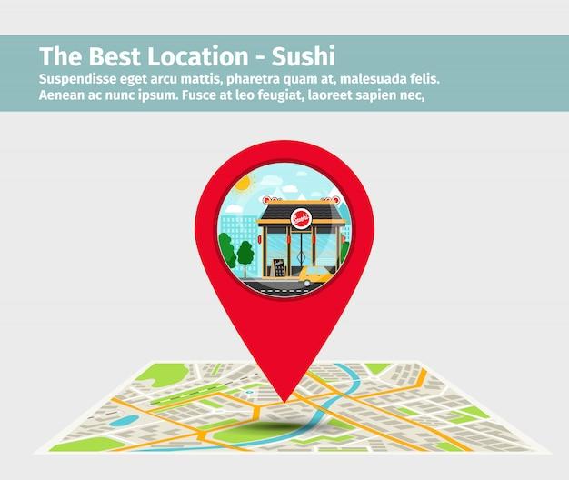 Лучшее место суши Premium векторы