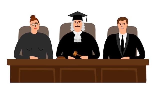 裁判官の裁判所の概念 Premiumベクター