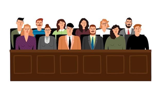 Жюри в суде Premium векторы