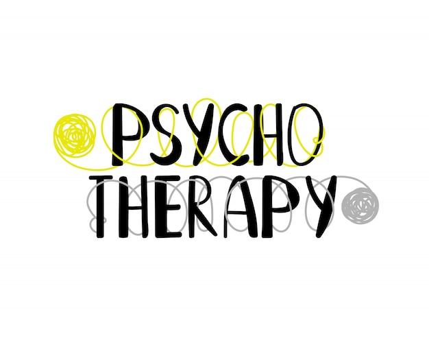 Логотип психотерапии Premium векторы