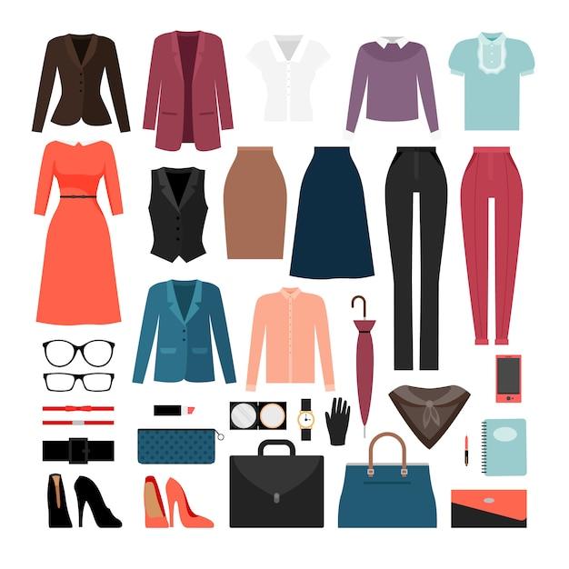 実業家の服やアクセサリー Premiumベクター