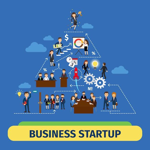 成功ビジネスチームワークベクトルの概念 Premiumベクター