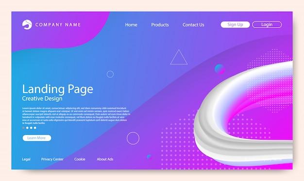 ウェブサイトのランディングページ Premiumベクター